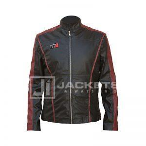N7 RED AND BLACK LEATHER JACKET