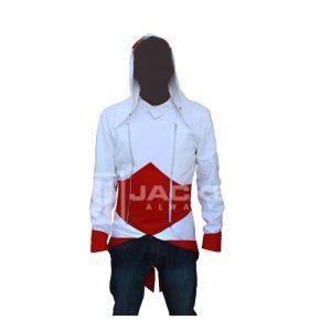 assassin's creed white and Red Jacket Front
