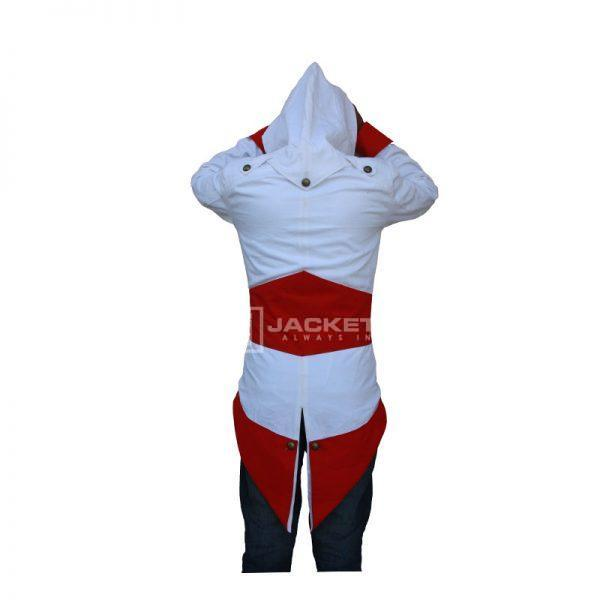 Assassin's creed white and Red Jacket Back