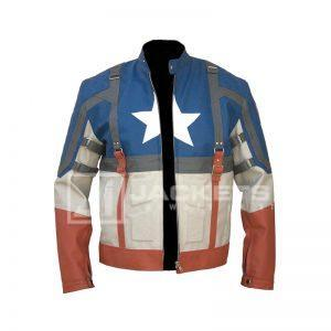 Captain America The Winter Soldier Leather Jacket back