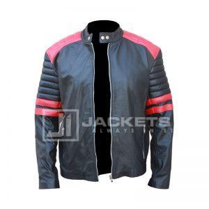 Brad Pitt Fight Club Black and Red Jacket