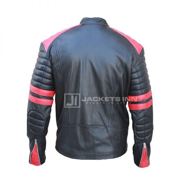 Brad Pitt Fight Club Black and Red Jacket Back