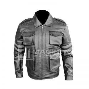 Hot Black Resident Evil 6 Leon Kennedy Leather Jacket