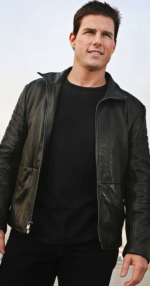 Tom Cruise black jacket