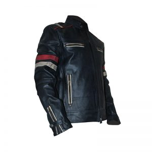 Retro 2 Men Vintage Leather Jacket Biker Cafe Racer