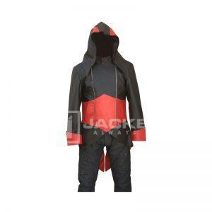 assassin's creed Black and Red Jacket