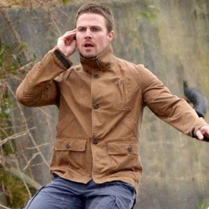 Arrow Stephen Amell Cotton Jacket