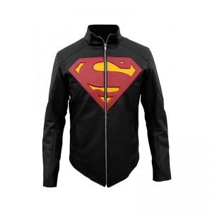 Black Superman Man of Steel Jacket