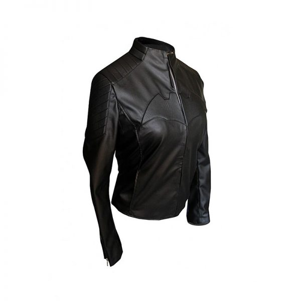 Black Women Batman Begins Batgirl Leather Jacket