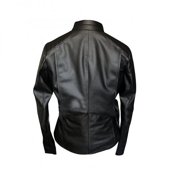 Black Women Batman Begins Batgirl Leather Jacket back