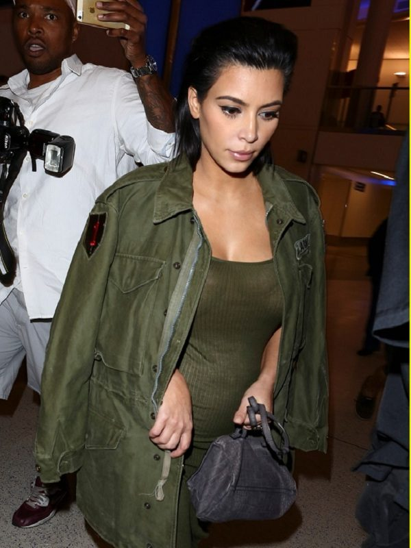 Kim-Kardashian-Army-Green-Jacket-1-1