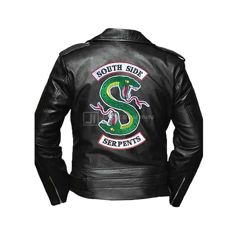 southside Black leather jacket