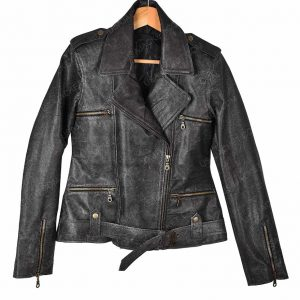 Carol Danvers Captain Marvel Black Leather Jacket available,