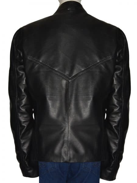 Chris Evans Black Leather Jacket style,