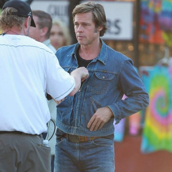 Brad Pitt Style Once Upon a Time in Hollywood movie black jacket replica