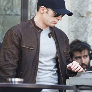 Chris-Evans-Civil-War-Brown-Jacket
