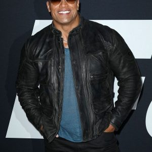 Dwayne Johnson Fast 8 Premiere Jacket