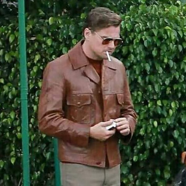 Once Upon a Time in Hollywood movie replica brown jackets Inspired By Leonardo Dicaprio
