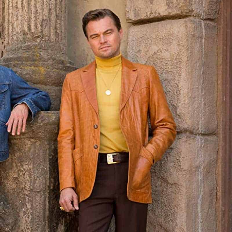 Once Upon A Time In Hollywood: Once Upon A Time In Hollywood Leonardo DiCaprio Brown Coat