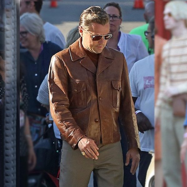 Once Upon a Time in Hollywood Leonardo DiCaprio Brown Jacket