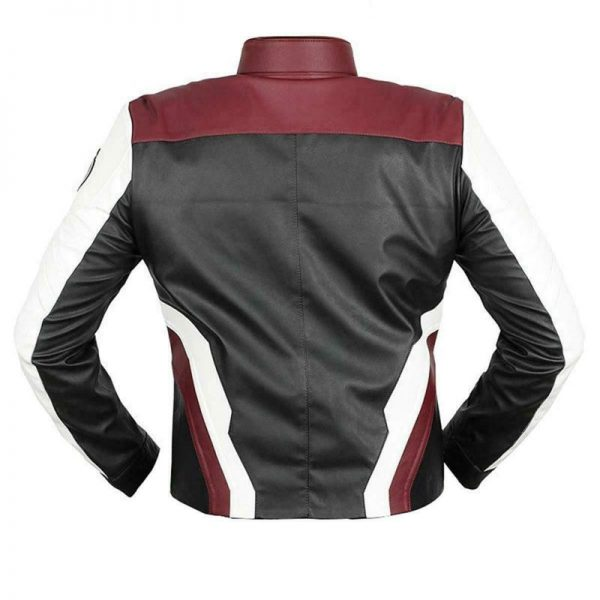 Avengers Endgame Red and White Leather Jacket back