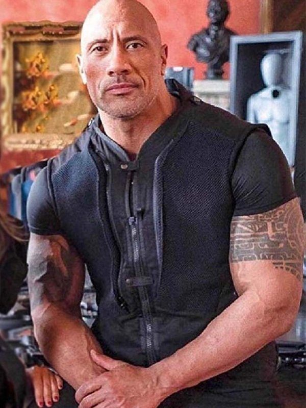 dwayne johnson movie costume idea from Hobb and Shaw Fast and Furious