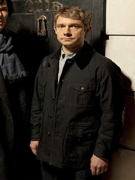 Martin Freeman Tv Series Sherlock Black Jacket