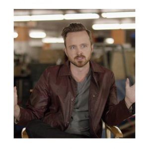 Aaron Paul Maroon Coat