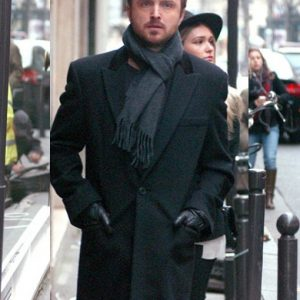 Aaron Paul Paris Wool Coat