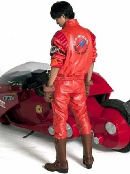 Akira Kaneda Red Leather Jacket for Mens