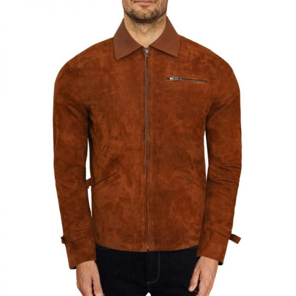 Allied Brad Pitt Suede Brown Jacket (1)