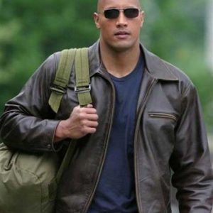 Amazing Rock New Movie Walking Tall Leather Jacket