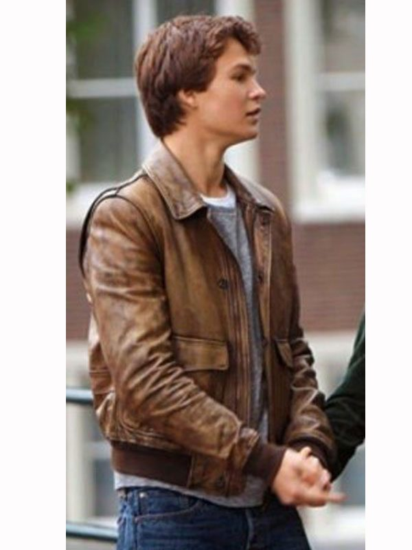 Ansel Elgort Jacket Replica - The Fault in Our Stars Movie Jacket In Sale