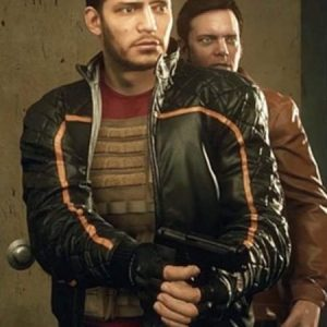 BATTLEFIELD HARDLINE NICK MENDOZA QUILTED BLACK JACKET