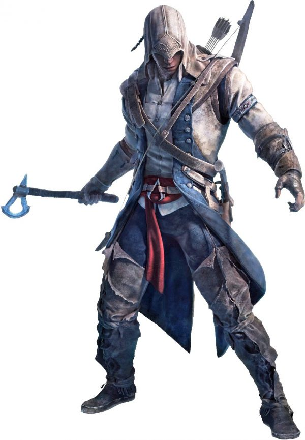 BLACK AND BLUE COTTON ASSASSIN'S CREED 3 COAT JACKET