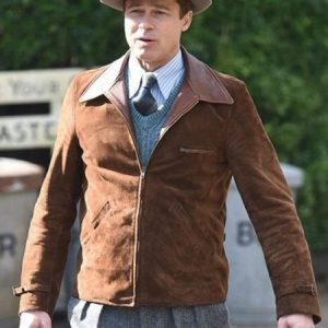 Brad-Pitt-Suede-Brown-Jacket