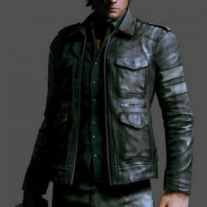 RESIDENT EVIL 6 BLACK LEATHER JACKET