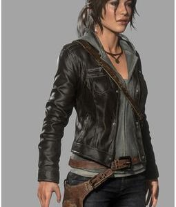 RISE OF THE TOMB RAIDER DARK BROWN JACKET