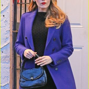 Blue Blake Lively The Age of Adaline Coat