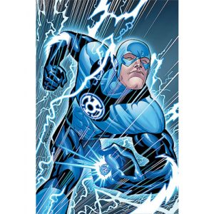 Barry Allen Blackest Night Blue Lantern Leather Jacket