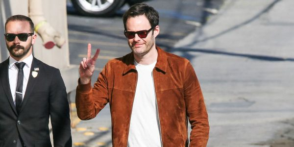 Bill Hader Suede Leather Brown Jacket