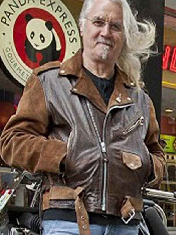 Billy Connolly Route 66 Black And Brown Biker Jacket
