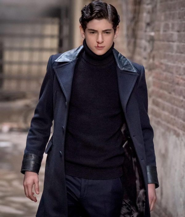 Bruce Wayne Gotham David Mazouz Wool Coat 2