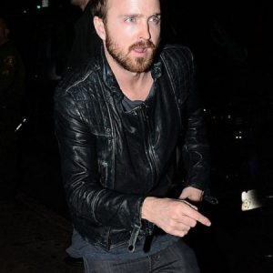 Aaron Paul Stylish Jacket Replica In California Arcade Fire Concert