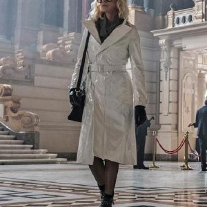 Charlize Theron Atomic Blonde White Coat