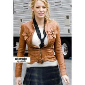 Gossip-girl-blake-lively-serena-van-der-woodsen-brown-jackets-875x1000