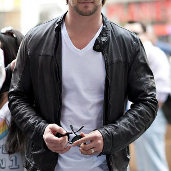 Chris Hemsworth Stylish Leather Jacket For Riders