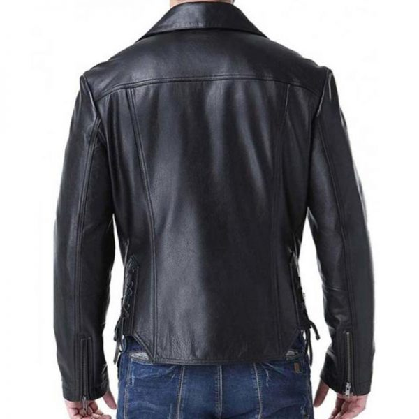 Mens trendy leather jackets - Ghost Rider Johnny Blaze Backside