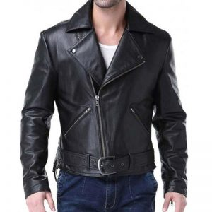 Mens black winter jacket: Ghost Rider Johnny Blaze Jacket