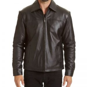 Leather jacket sale: Buy mens open bottom leather jacket